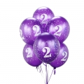 Purple Medium  No. 2  Latex Balloons 6 Pack